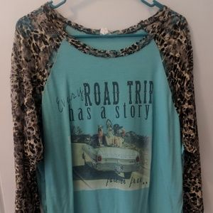 Roadtrip leopard top